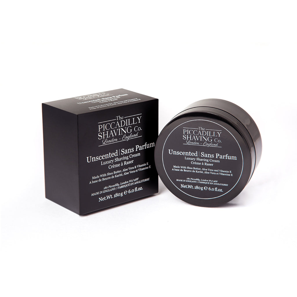 The Piccadilly Shaving Co. Unscented Shaving Cream Bowl 180g - BUYBARBER.COM