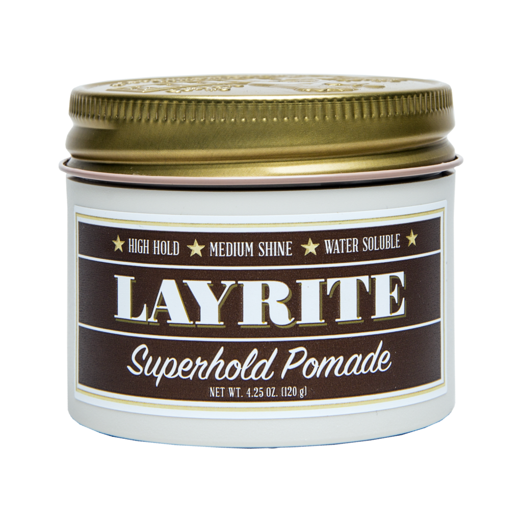 Layrite Superhold Pomade 4.25oz - BUYBARBER.COM