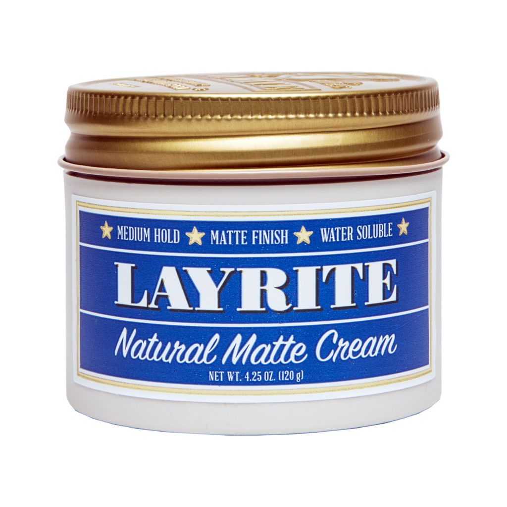 Layrite Natural Matte Cream 4.25oz - BUYBARBER.COM