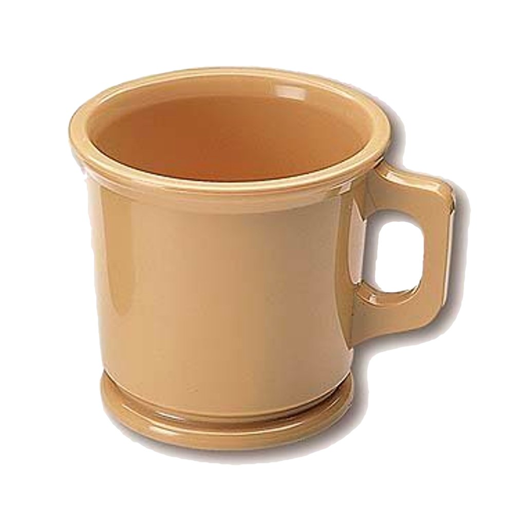 Plastic Shaving Mug Brown Unbreakable - BUYBARBER.COM