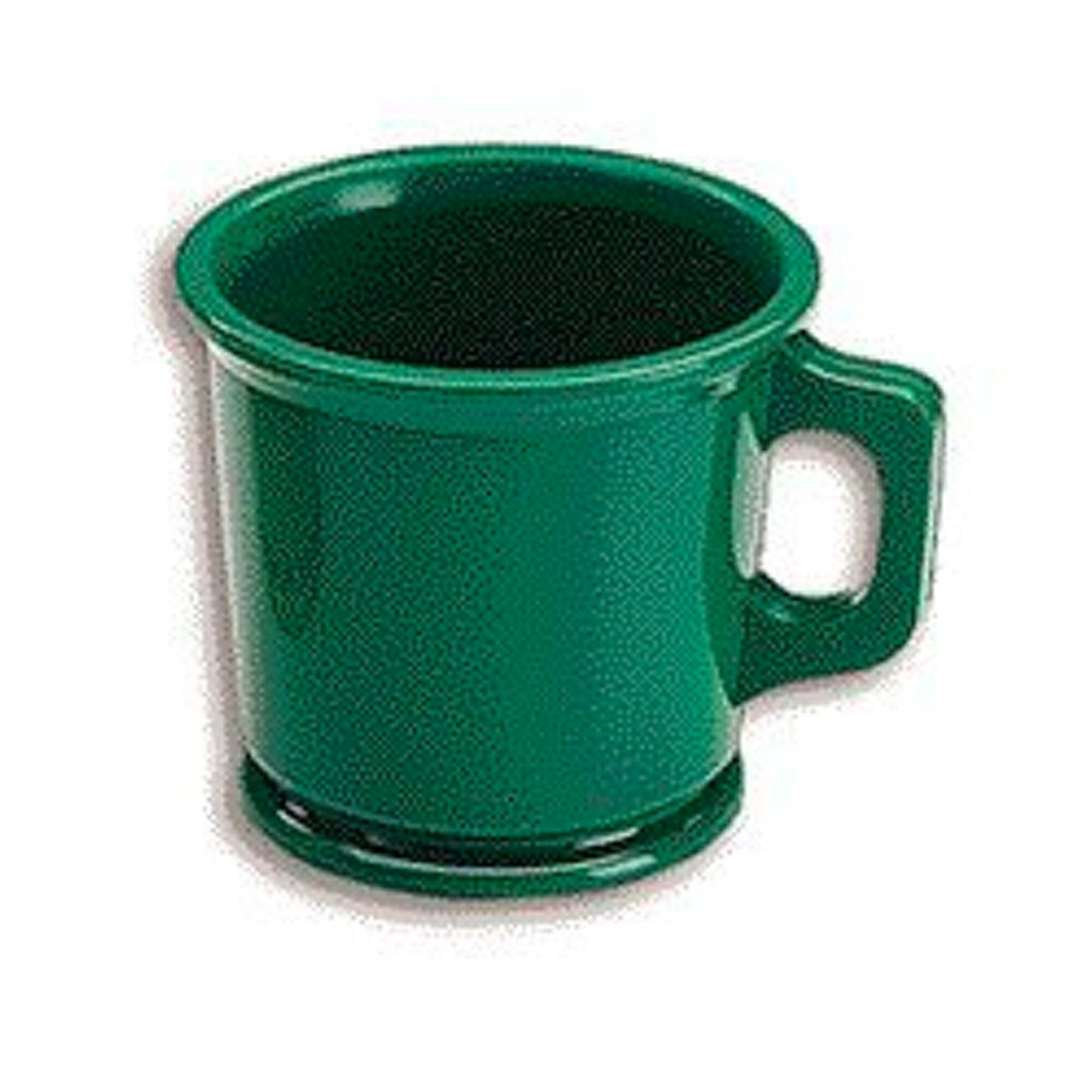Rubber Shaving Mug Green Unbreakable - BUYBARBER.COM