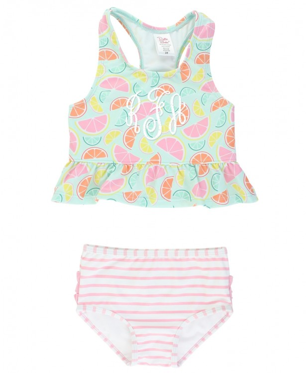 Squeeze the Day Peplum Tankini | RuffleButts