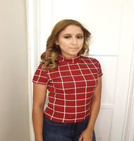 Jessie Plaid Crop Top