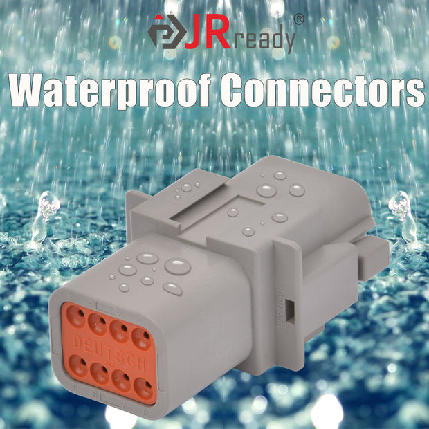 2 Pin DT Connector Waterproof Electrical Wire Connector with Solid Contact and Seal Plug,3 Sets