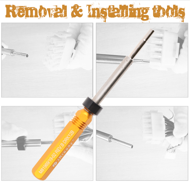 DRK12B DRK16B DRK20B Removal Tools Designing Refers to M81969 Applied to Remove Contacts Without Any Damage