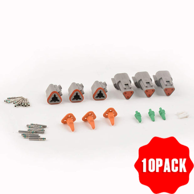 10 pack DT connector kit(A set of three pairs)