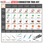 JST6110 connector Kit 2-12 Pin/ Solid Terminals with JRD-HDT-48 Crimper Equivalent to HDT-48-00 Crimp Tool Wire Size 12-22AWG