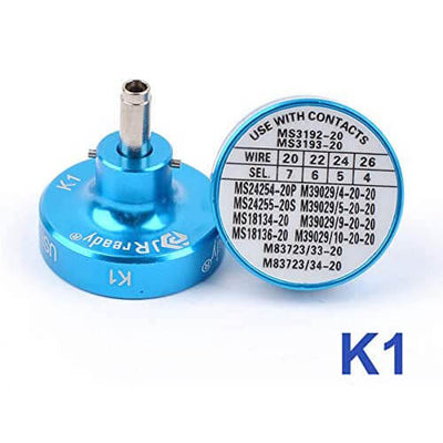 K1 positioner,MS3192-20A-20A contacts,K1 apply for crimping 20#,22#,24#,26# Wire,M26482 series connector