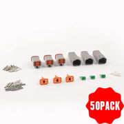 50 pack 4Pin DT connector kit(A set of three pairs)