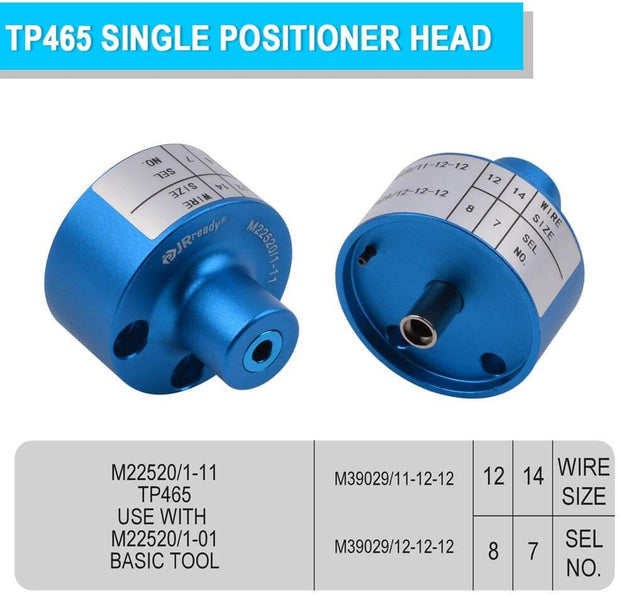 TP465 (M22520/1-11) Single Position Head M22520 / 1-11 for size 12 pin and socket contacts