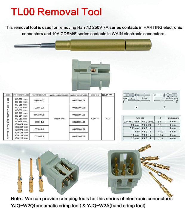 Removal Tool  for harting connector