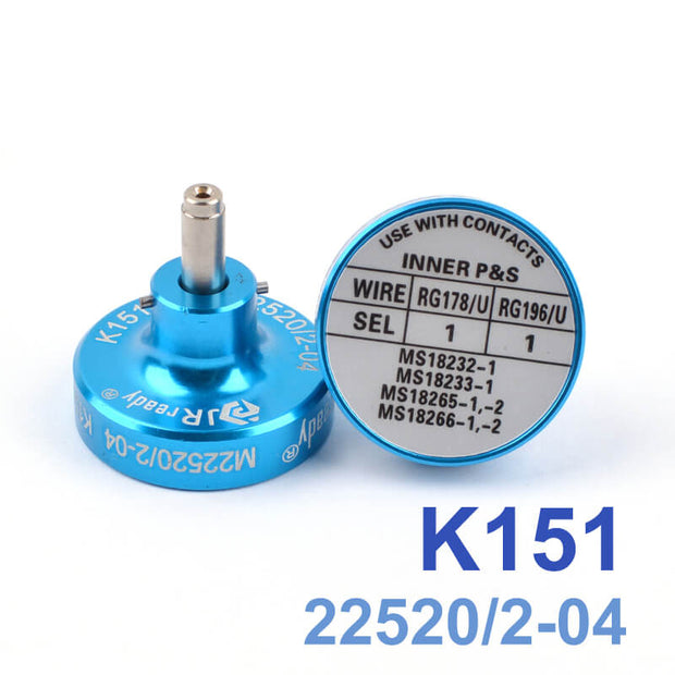 K151 M22520/2-04 Positioner is suitable for terminal contacts MS18232-1,MS18233-1,MS18265-1,-2,MS18266-1,-2,worked with W1A(AFM8) Crimper