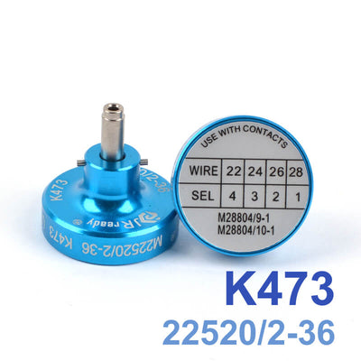 K473 (M22520/2-36) Positioner Crimp for Pin Terminal Contacts Crimper YJQ-W1A