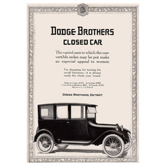 1917 Dodge Brothers Closed Car