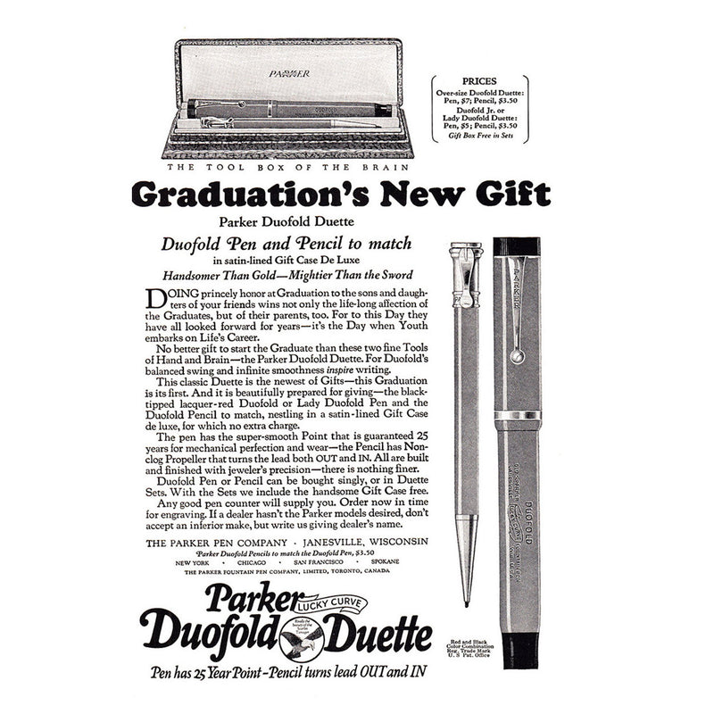 1924 Parker Duofold Duette Pen and Pencil