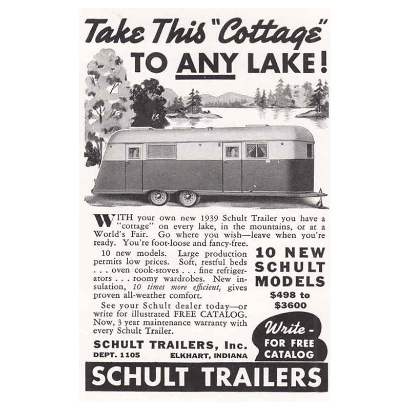 1939 Schult Trailers