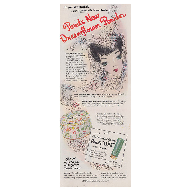 1942 Ponds Dreamflower Powder