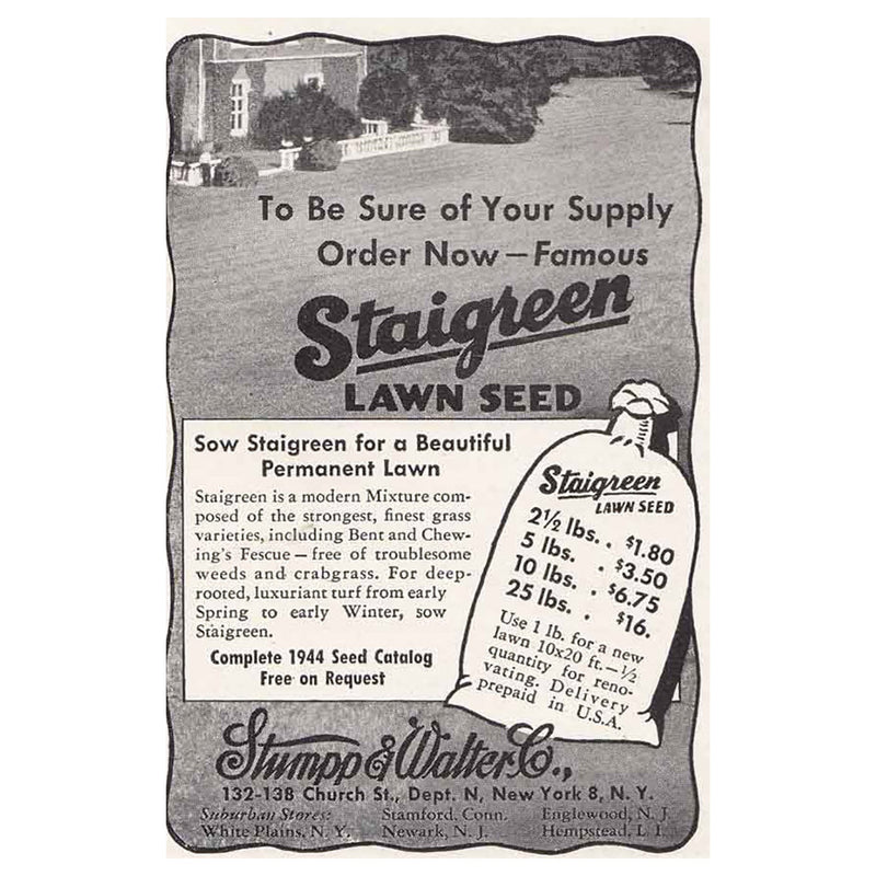 1944 Staigreen Lawn Seed
