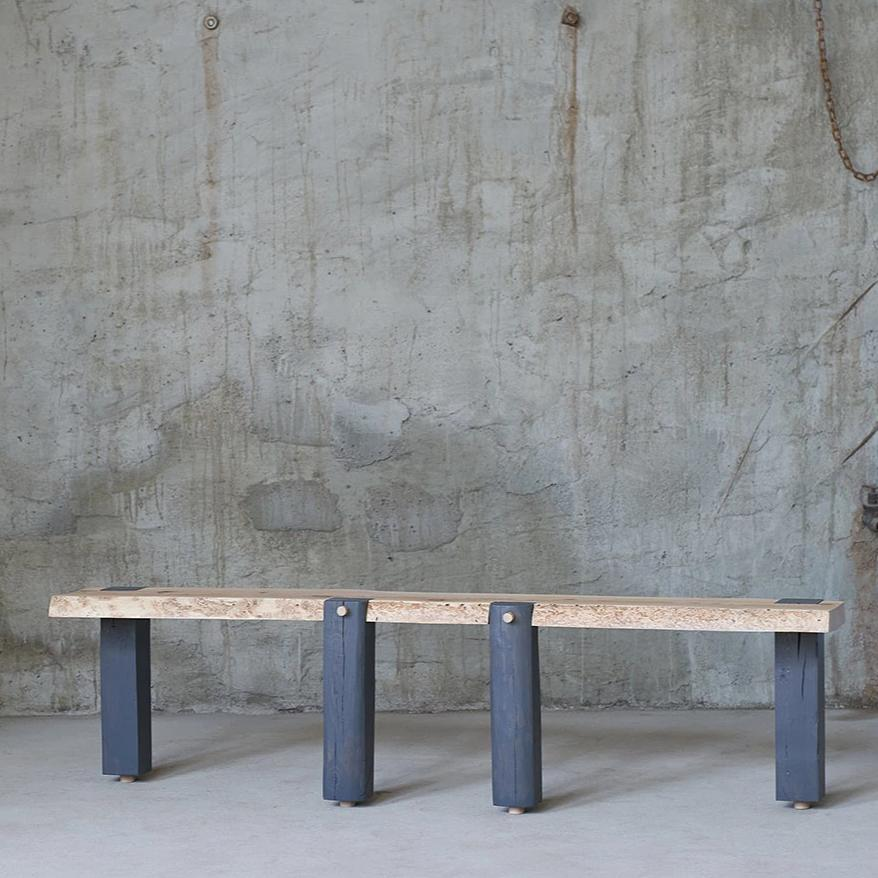 Limited edition reclaimed wood console table