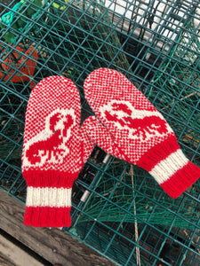 Lobster Mitt Kit - Pattern Digital Download and Yarn
