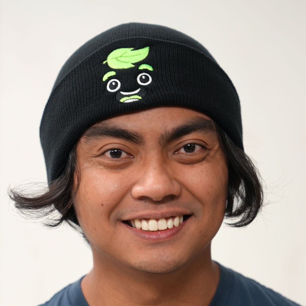 Guava Juice Happy Beanie in Neon Green