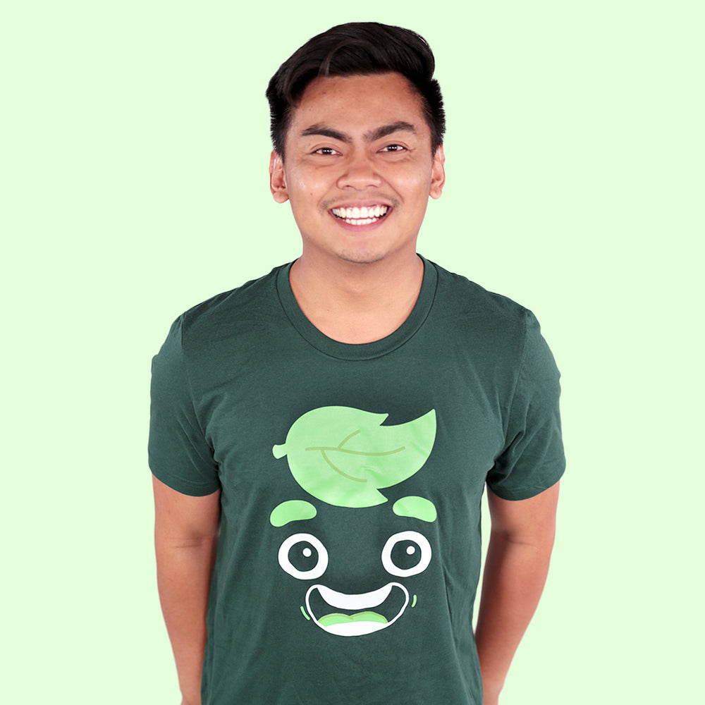 Guava Juice Happy Shirt - FOREST GREEN (UNISEX)