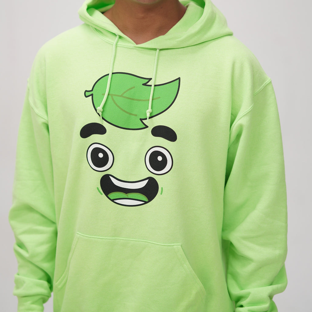 Guava Juice Happy Neon Green Hoodie - Limited Edition