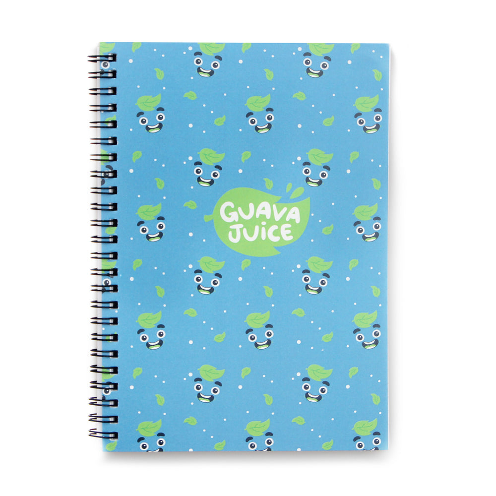 Guava Juice - Spiral Notebook in Blue