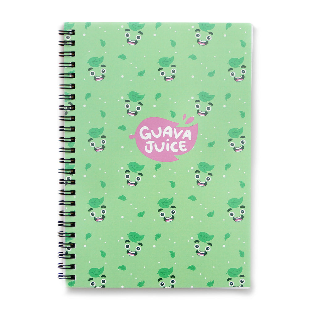Guava Juice - Spiral Notebook in Mint