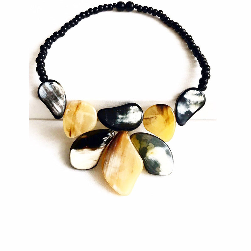 "Statement Necklace Buffalo Horn ""l'élégant"""