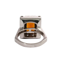 18k White Gold Citrine and Diamond Ring