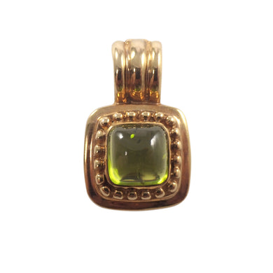 14K Yellow Gold Peridot Slide Pendant