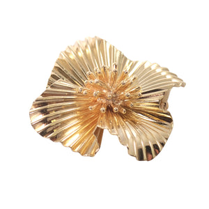 Tiffany & Co Retro 14K Yellow Gold Brooch
