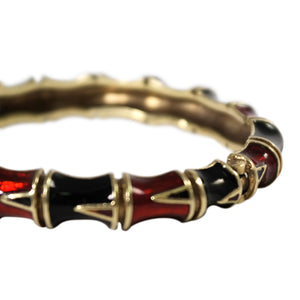 14K Yellow Gold Enamel Bracelet