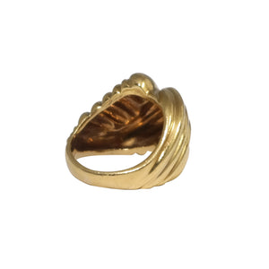 18k Yellow Gold Done Ring