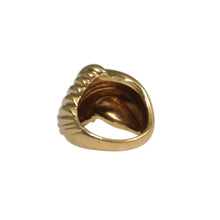 18k Yellow Gold Dome Ring