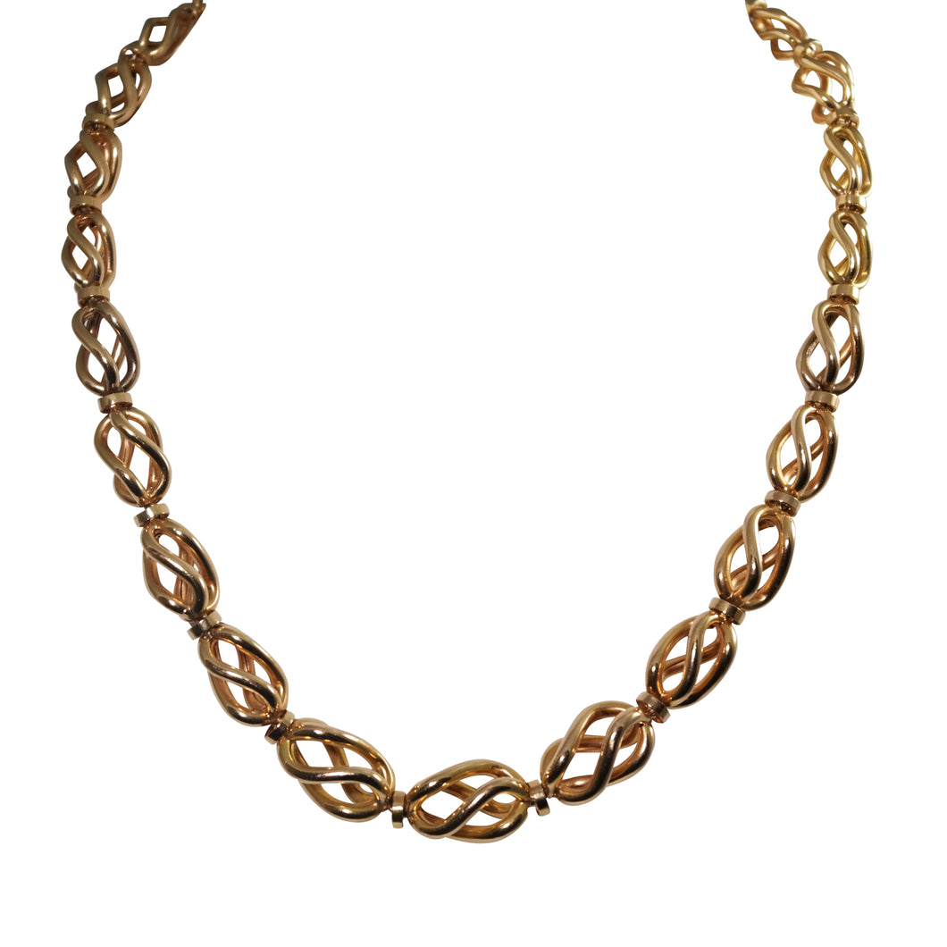 Retro 18k Rose Gold Necklace