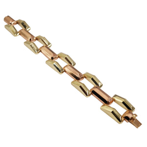 Retro 14k Yellow Gold and Rose Gold Bracelet