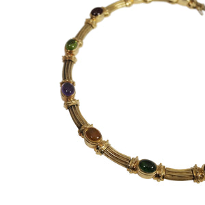 14k Yellow Gold Multi Stone Necklace