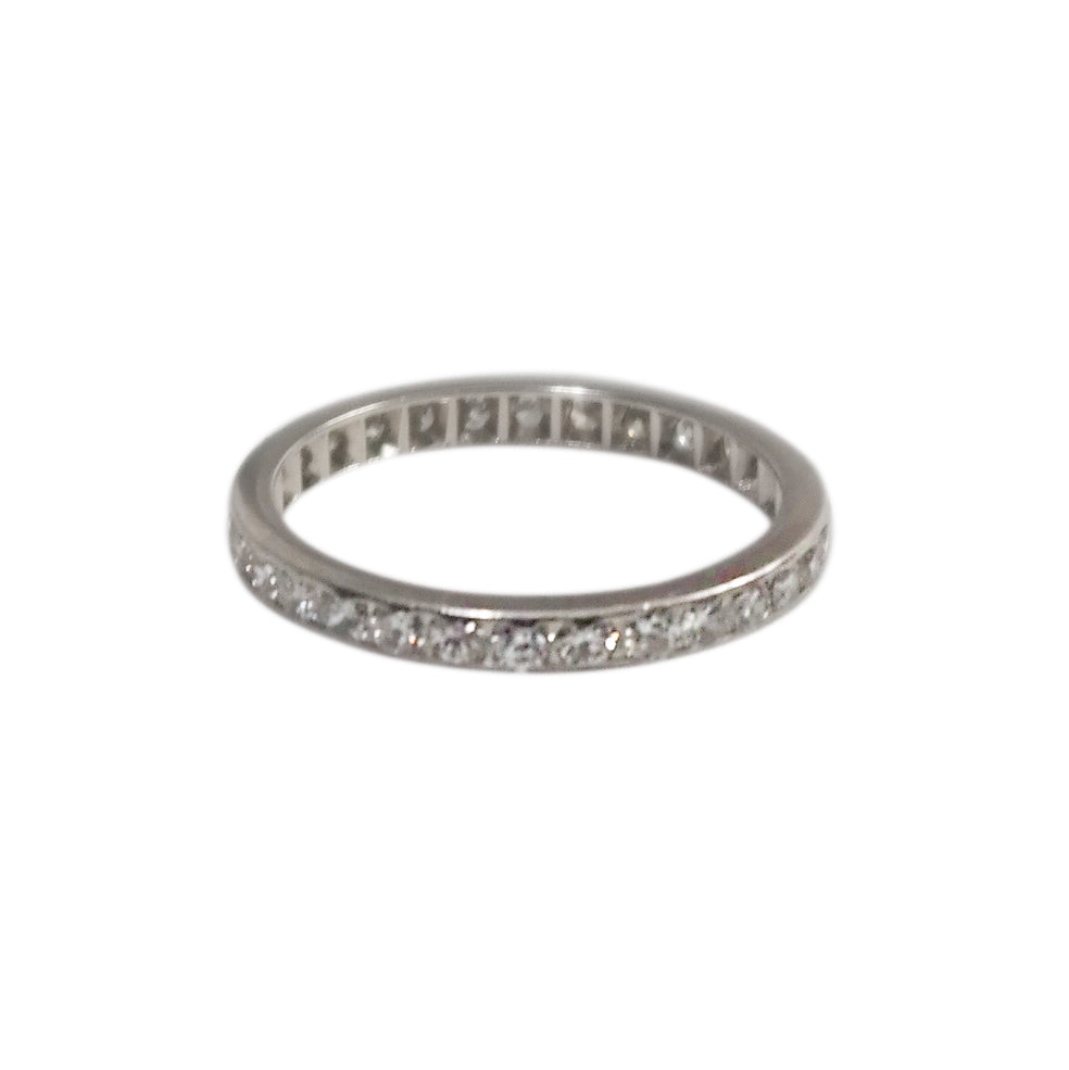 Art Deco Platinum Diamond Eternity Band