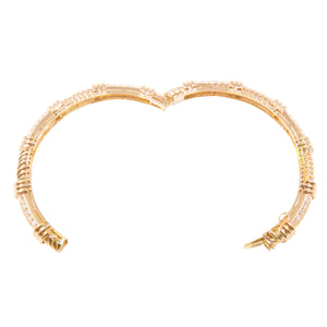 18k Yellow Gold Diamond Bangle Bracelet