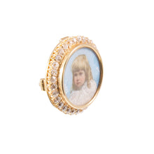 Antique 18k Yellow Gold Diamond Miniature Pin/Pendant