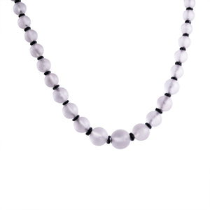 Art Deco Platinum Diamond, Crystal, and Onyx Necklace
