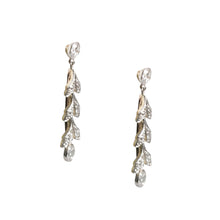Edwardian Platinum Over Gold Diamond Earrings