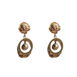 Mid Century 14k Yellow Gold Victorian Style Earrings