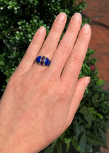 14k Yellow Gold Lapis And Diamond Ring