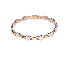 18k Yellow Gold Diamond Flexible Link Bracelet