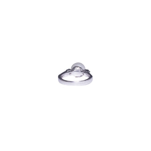 Platinum Pearl and Diamond Ring