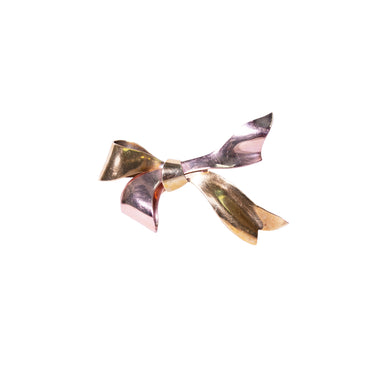 Retro Tiffany & Co.14k Yellow and Rose Gold Bow Brooch