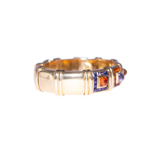 Garber 18k Yellow Gold Iolite and Citrine Bangle Bracelet